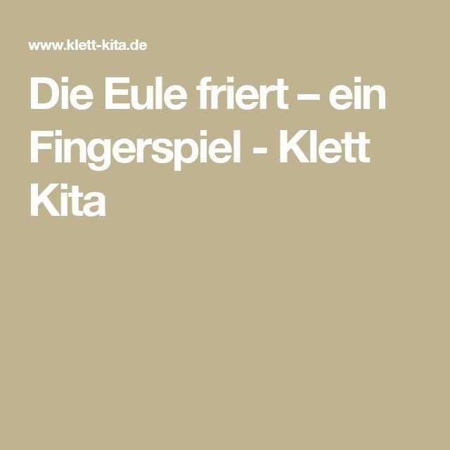 Die Eule friert – ein Fingerspiel - Klett Kita