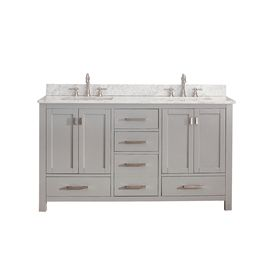 Photo Gallery Website Avanity Modero Chilled Gray Undermount Double Sink Bathroom Vanity with Natural Marble Top Common
