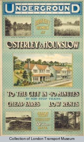 Underground : Osterley and Hounslow : To The City in 40 Minutes