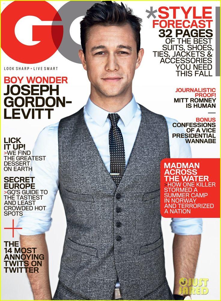 Not a blogger, but pretty adorable - Joseph Gordon-Levitt Covers 'GQ' August 2012