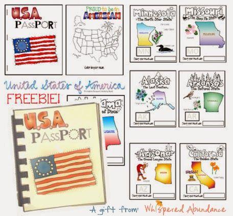 Free USA Passport Activity Booklet
