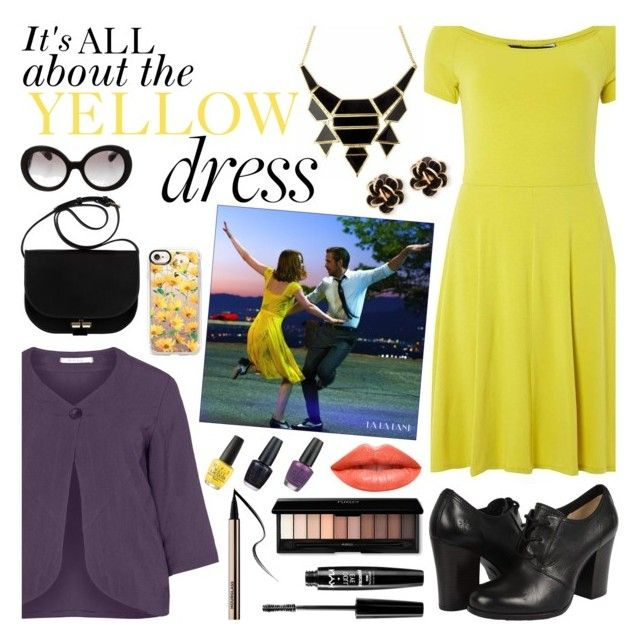 """""""It's all about the yellow dress"""" by the-silent-queen ❤ liked on Polyvore featuring Dorothy Perkins, Frye, Oliver Jung, A.P.C., Chantecler, NYX, Ardency Inn, Casetify, Prada and OPI"""