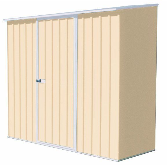 Outdoor Storage Shed Steel Garden Building Kit Lawn Utility Garage Tools 7'x3'