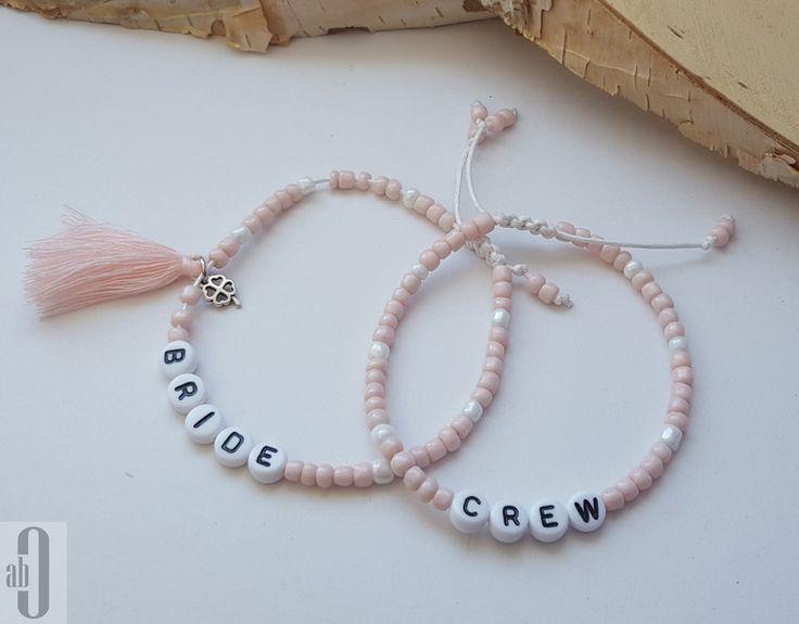 Accessoires - Armbänder-Set JGA 6-teilig vintage rosa - silber - ein…