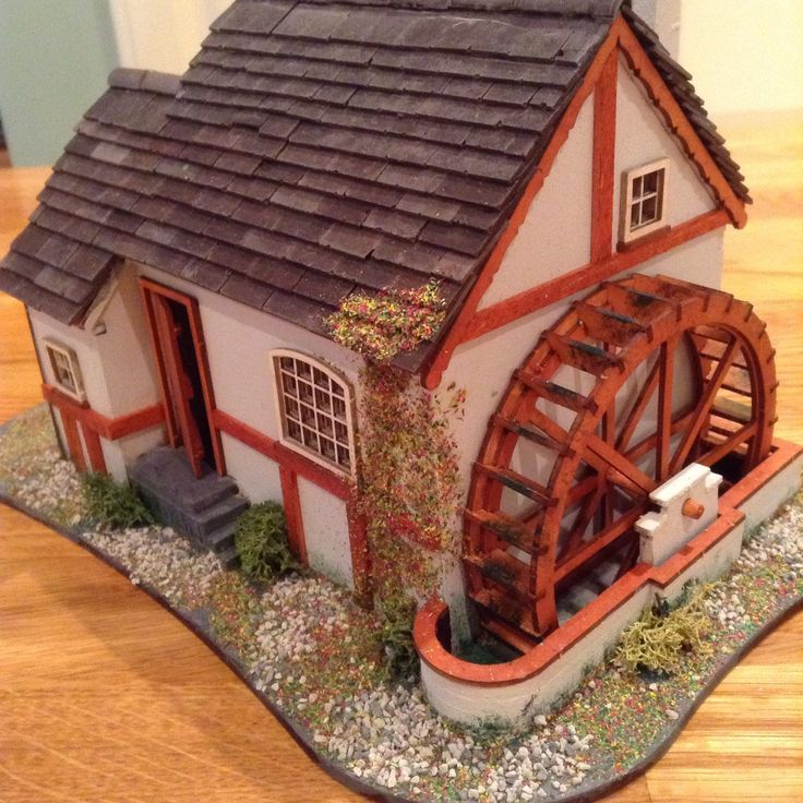 1/48 Scale, Quarter Scale , Handmade, Watermill Cottage
