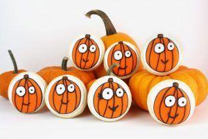 whimsical pumpkin cookies   sweetopia