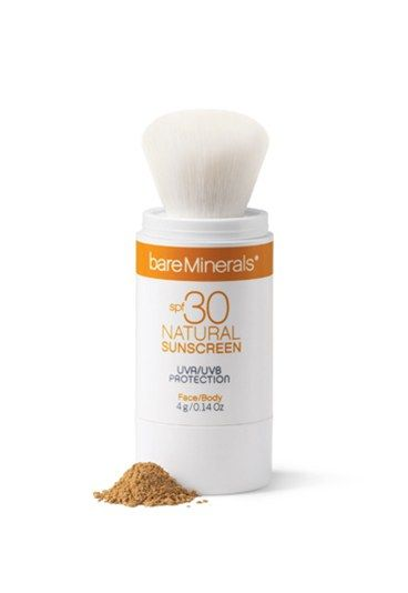 If greasy sunscreen is your beauty bug bear then why not try Bare Minerals powder sunscreen?