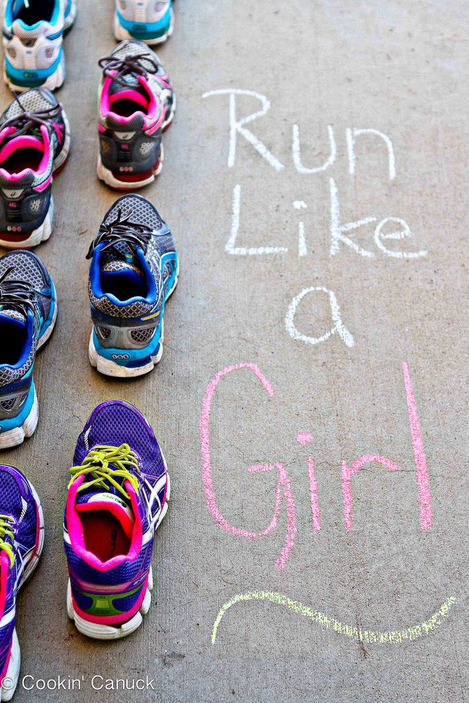 Run Like a Girl: Lacing Up Together {A Challenge} | cookincanuck.com #running #exercise #fitness
