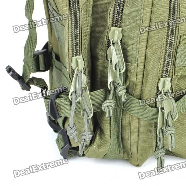 Outdoor Military War Game Multi-Function Oxford Cloth Backpack Bag - Army Green - Free Shipping - DealExtreme