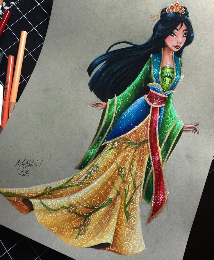 Mulan - Disney Princess Drawings by Max Stephen