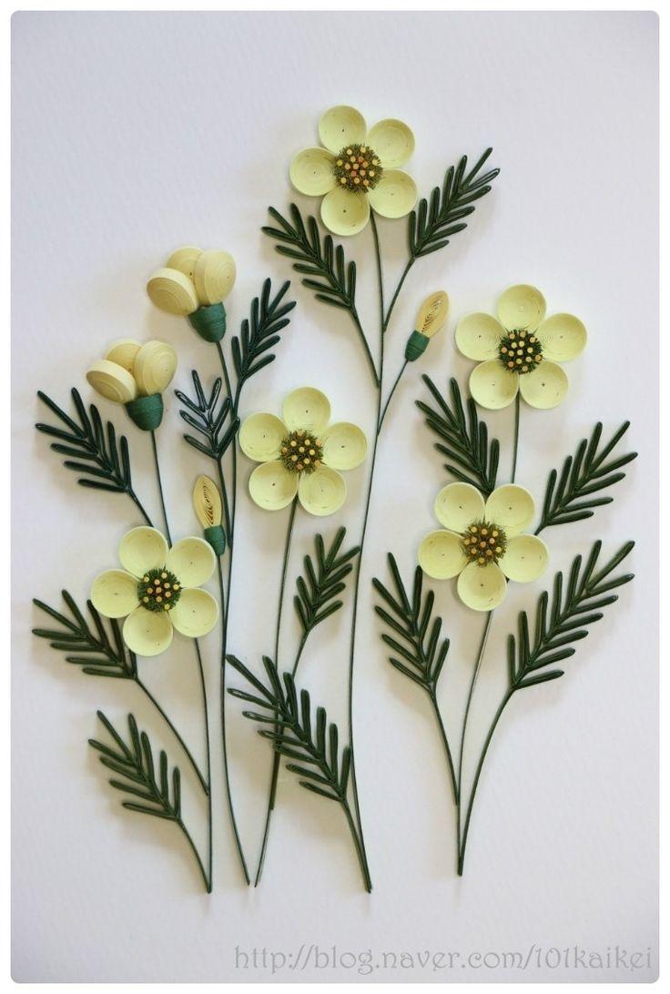 paper quilling - flower    http://blog.naver.com/101kaikei/140209907686