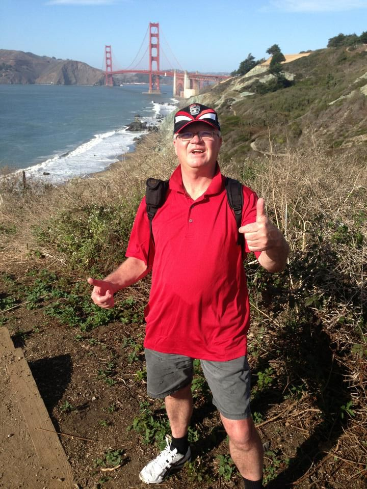 Long time Vodafone Warriors supporter Robin Smith repping his club in San Francisco, USA #WarriorsWorld