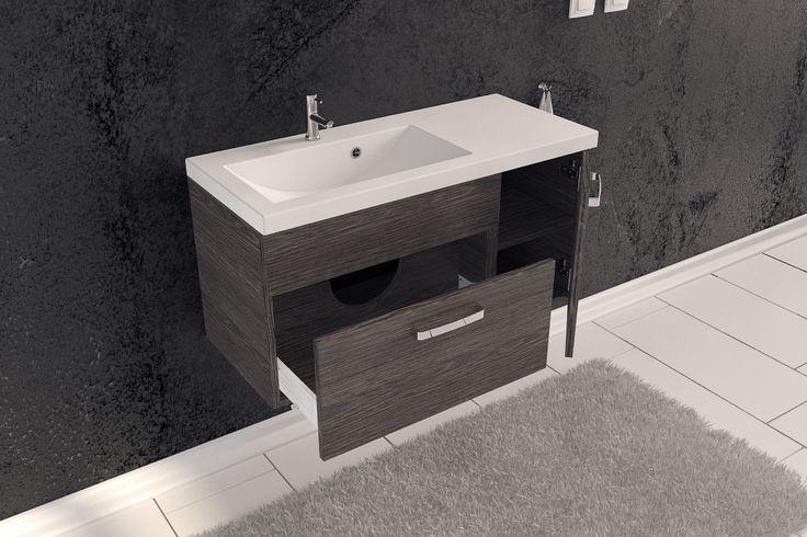 ''Pojemna szuflada z głębokim wysuwem zapewnia wygodę codziennej porannej toalety. Idealne miejsce do przechowywania kosmetyków, suszarki, prostownicy i wielu innych drobiazgów.