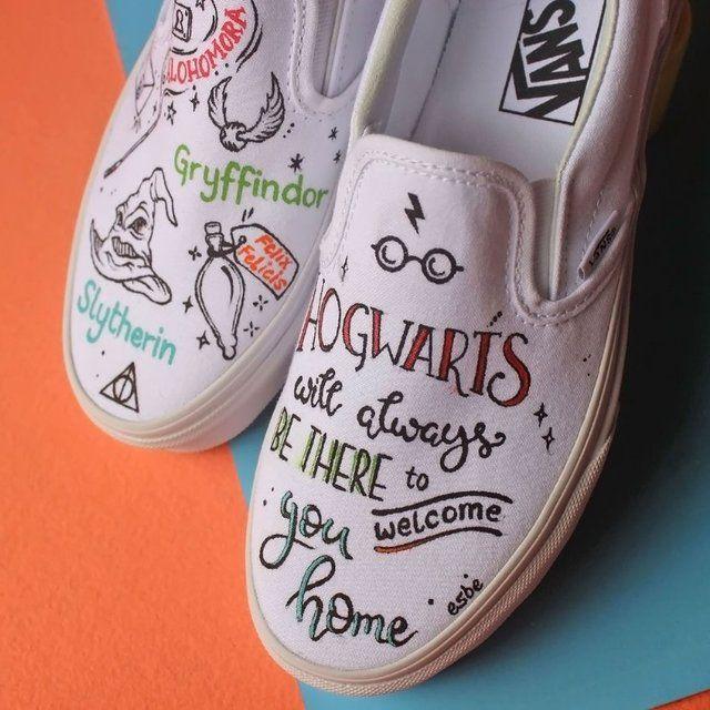 zapatos vans harry potter kawaii