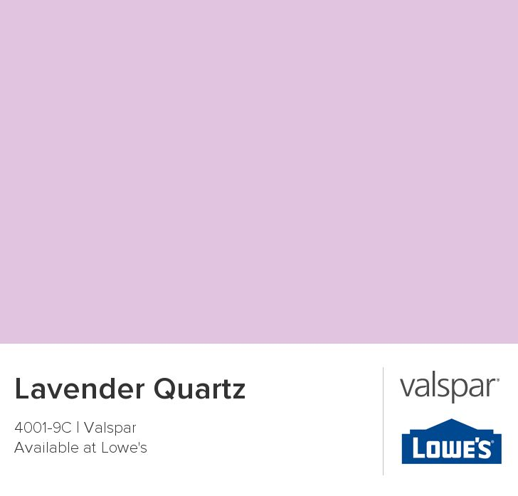 Lavender Quartz From Valspar Color 1 For Tallula's Room