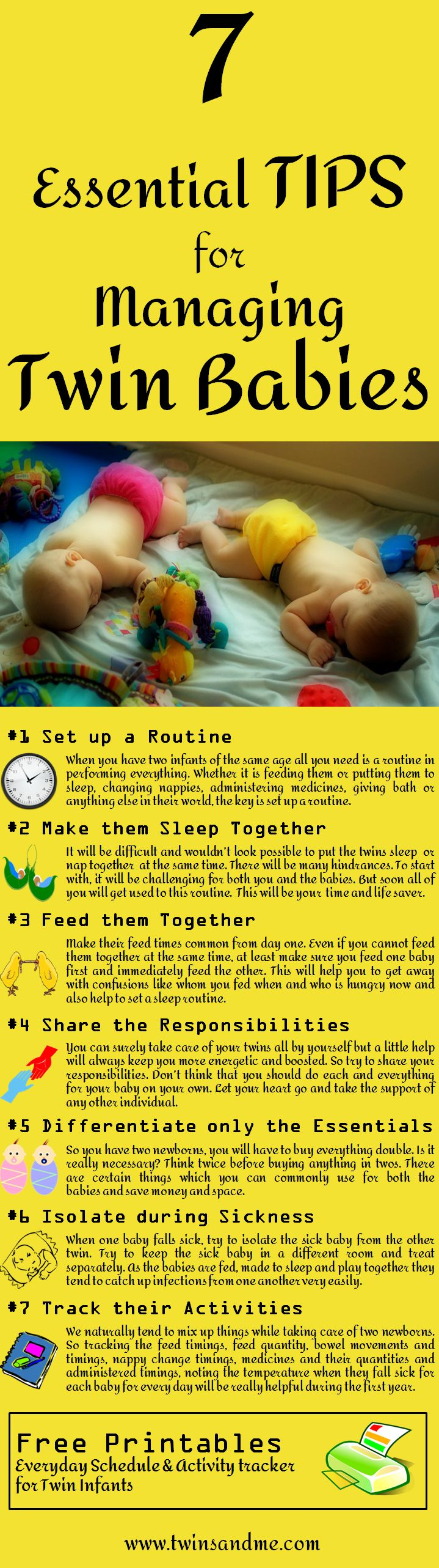 Feeling exhausted about bringing up your twin infants? Need some ideas or tricks to make your life easier. Here are a few tips for managing twin babies!