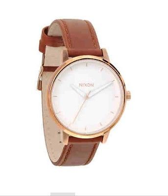 gold womens brown leather and s watches