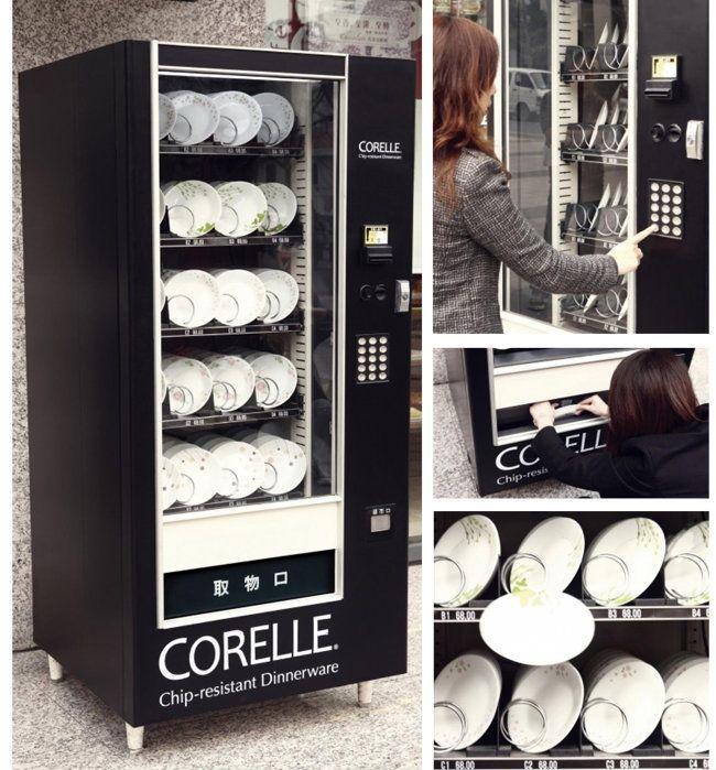Empresa fabricante de pratos faz ação de marketing com vending machines