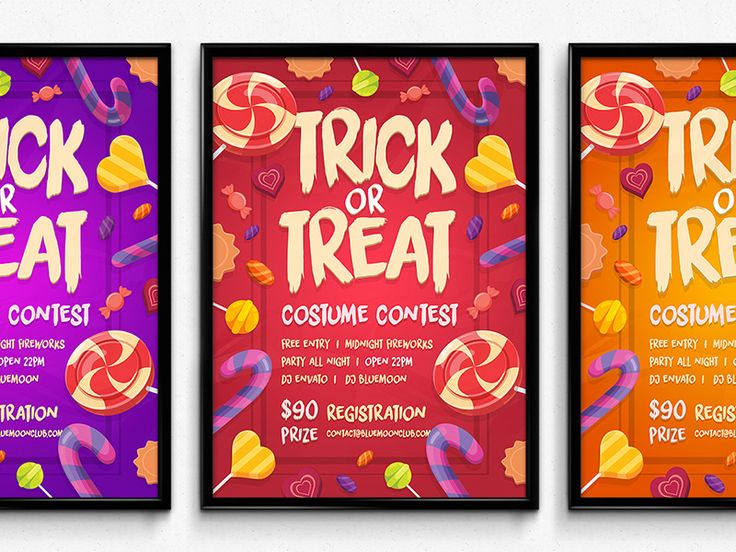 Candy Halloween Poster by Vede Emanuel