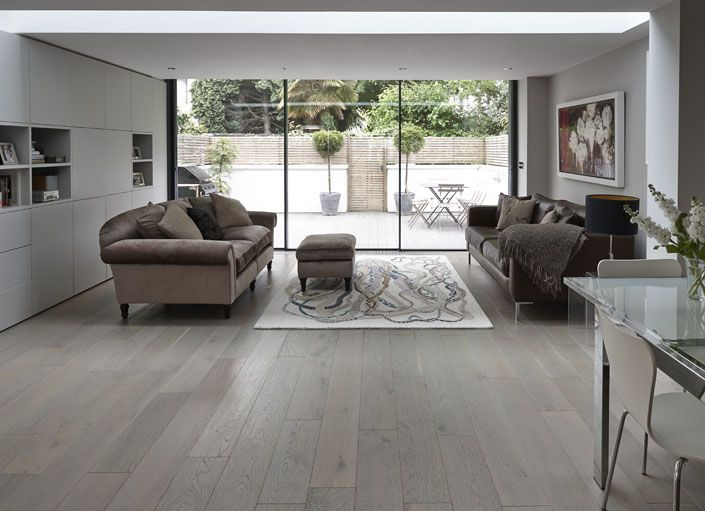 Junckers Oak Silver Pearl A Solid Hardwood Floor With A