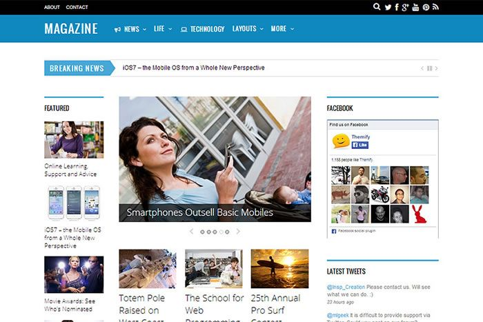 Magazine - szablon Wordpress dla gazety - http://trejka.pl/magazine-szablon-wordpress-dla-gazety/