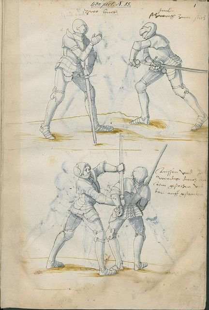 Fechtbuch (Fight book). Fencing manuscript produced ca. early 1500s in the Bavarian city of Nuremburg