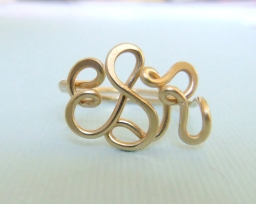 I would LOVE LOVE LOVE a simple Monogram ring like this!