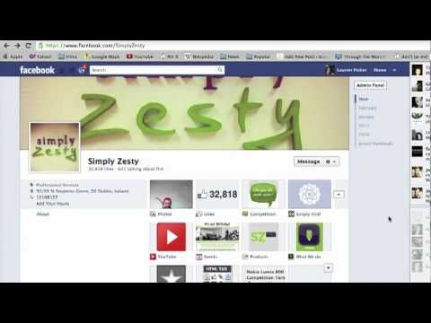 Video Demo of new Facebook Timeline for Brands by Simply Zesty.