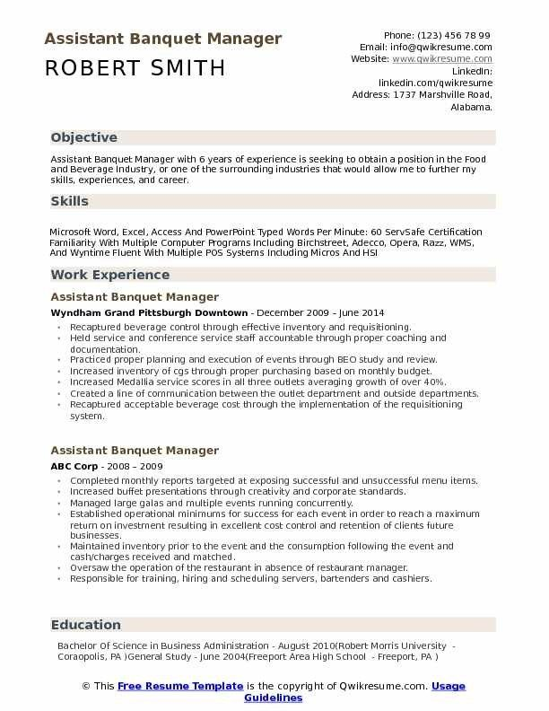 Assistant Banquet Manager Resume Samples Qwikresume Resume Template Resume Design Template Downloadable Resume Template