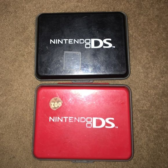 3DS BUNDLE CASES AND RANDOM DS GAME 3DS BUNDLE CASES AND RANDOM DS GAME BLACK/RED GENTLY USED NINTENDO Other