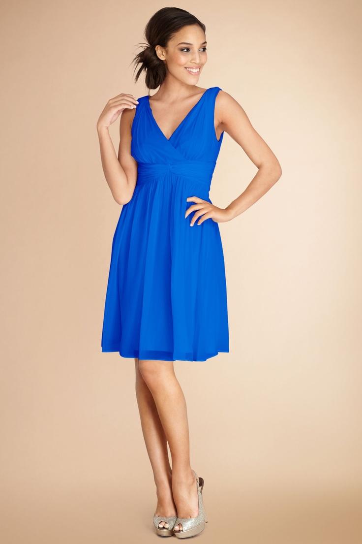 #DonnaMorgan Jessie #Bridesmaids dress in Brazilian Blue