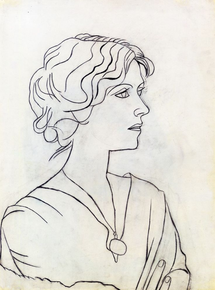 Huariqueje portrait dolga pablo picasso 1920 pencil on paper