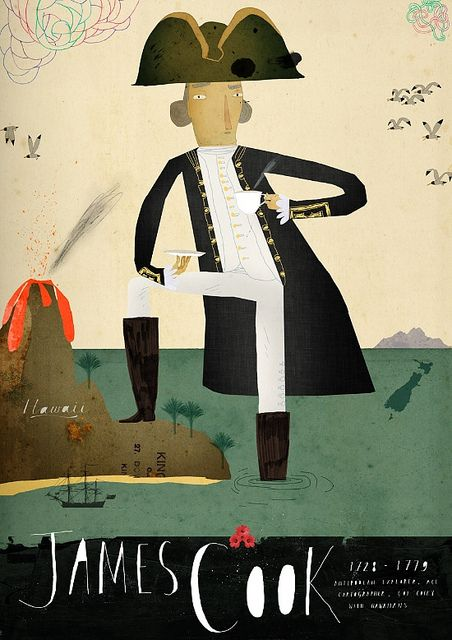 'Captain Cook' by South African illustrator & cartoonist Patrick Latimer, via the artist's site