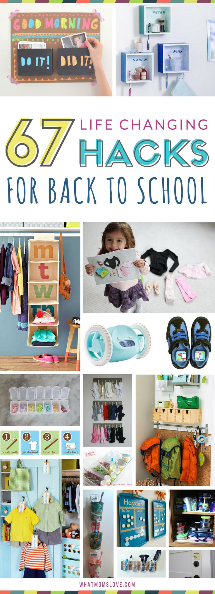 Organization tips for back to school | Amazing ideas for organizing your mornings for moms, kids and teens for a stress free school year | Survival hacks and tips