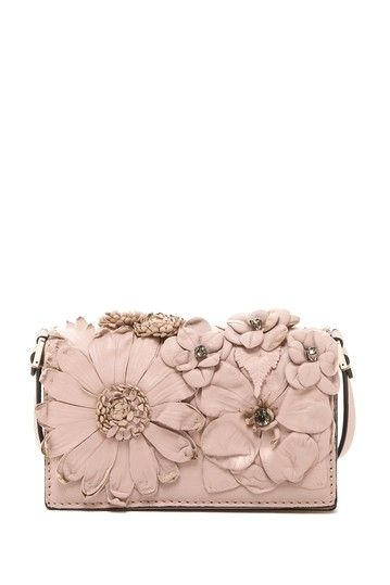 Valentino Flower Mini Wallet with Strap