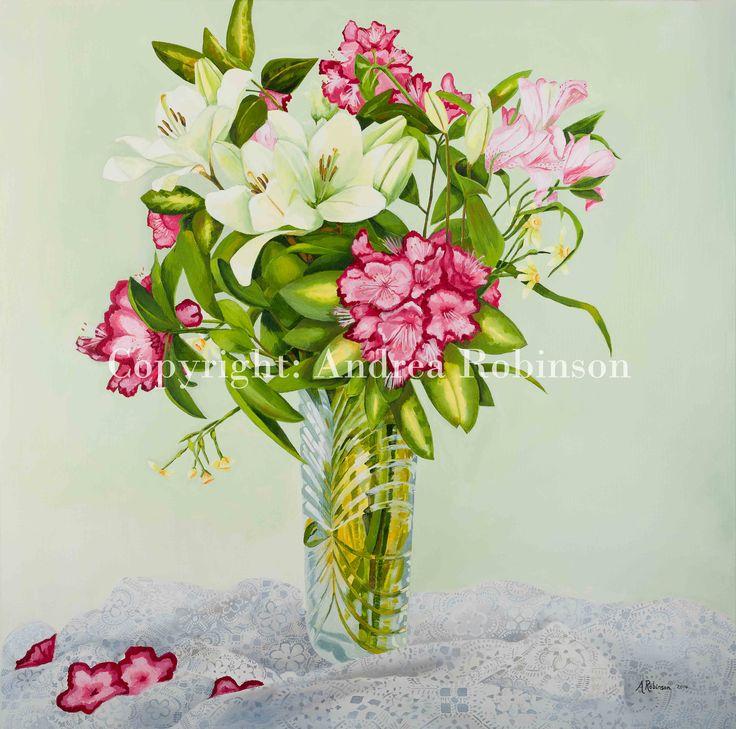 Lillies Andrea Robinson Fine Art www.andrearobinson.co.nz
