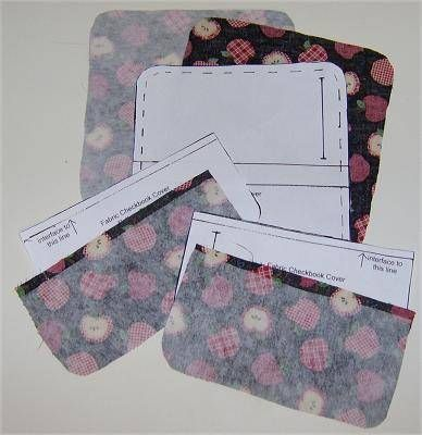 Fabric Checkbook Cover - Free Pattern & Directions