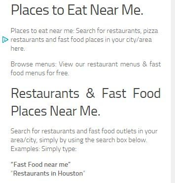 Find Fast Food Places to eat near me now: Search for pizza places near me & fast food near me, including chines restaurants, italian restaurants and sushi restaurants. Browse menus and fast food coupons for 2015. Also, you can now search for pizza and fast food restaurants that deliver in your area. Plus, see the full pizza hut, dominos, mcdonalds, KFC and papa johns menus with prices on one page. Enjoy!