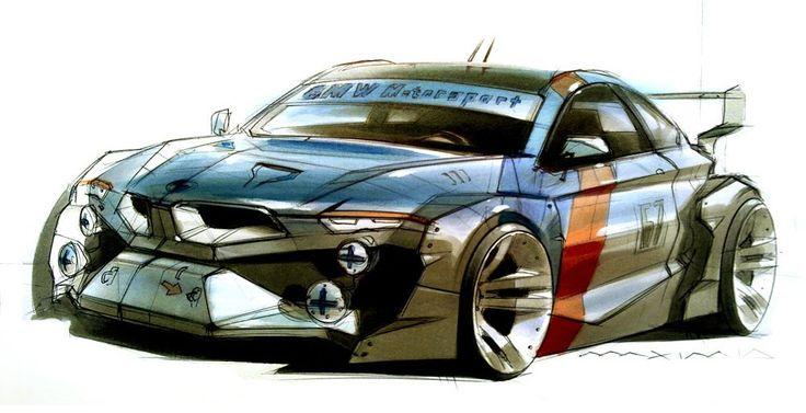 BMW 3ER DTM Sketches by Maxim Shershnev