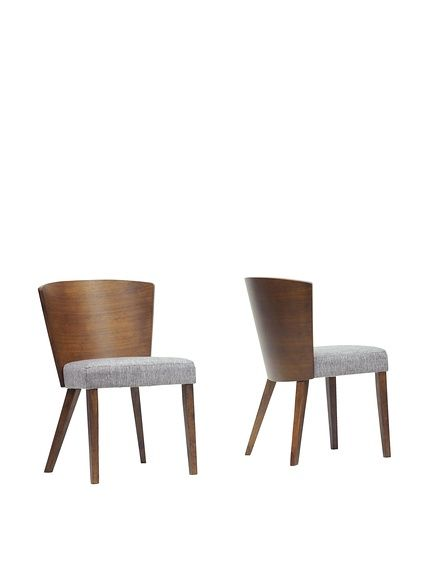 Baxton Studio Set of 2 Sparrow Wood Dining Chairs, Brown at MYHABIT