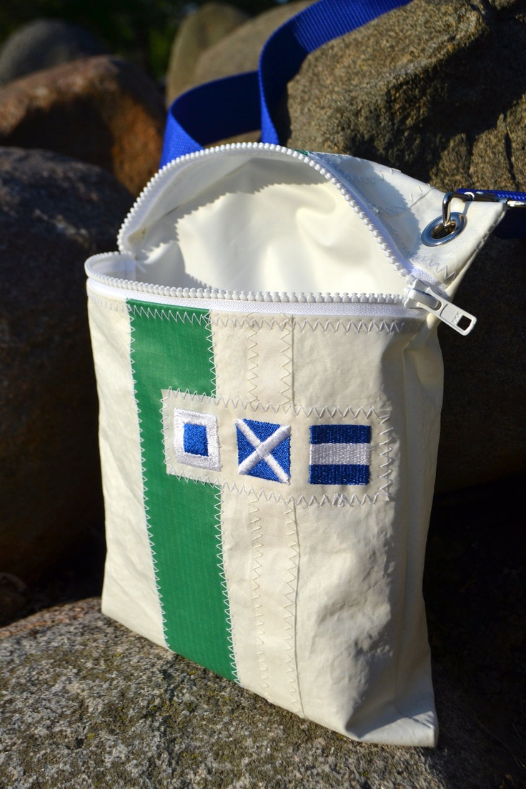 Personalized Sail Anew Hipster Bag. $45.00, via Etsy.