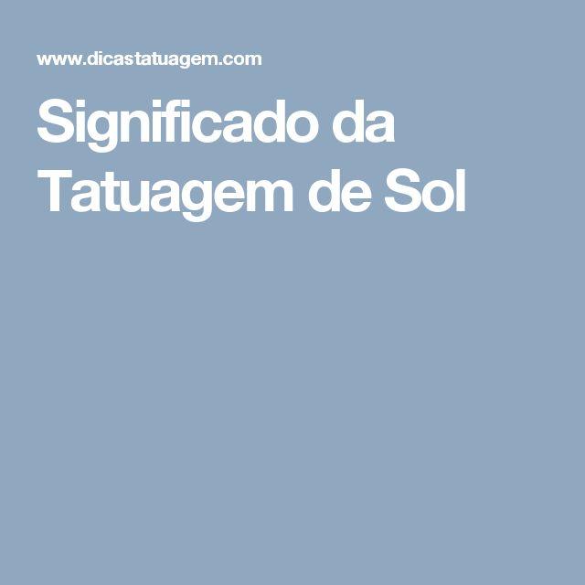 Significado da Tatuagem de Sol