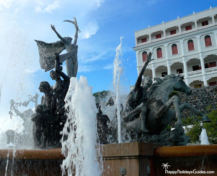 best the magic of old san juan puerto rico images  the raices fountain a beautiful place to site and people watch