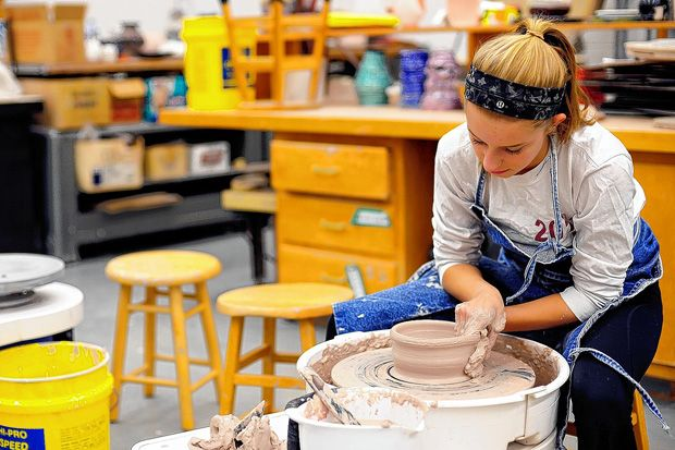 Canal Winchester High School students and staff members are putting the finishing touches on handmade bowls that will be used to raise money for the Canal Winchester food pantry on Super Bowl Sunday, Feb. 1.