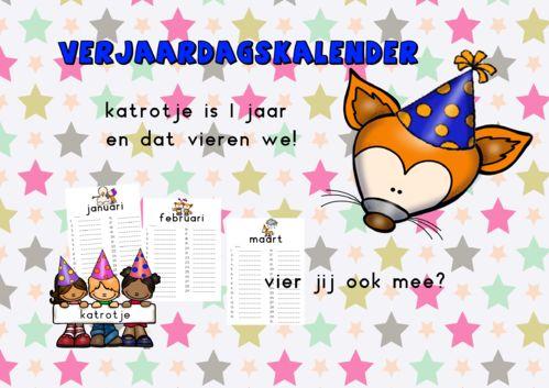 gratis verjaardagskalender van katrotje speelleermateriaal voor kleuters