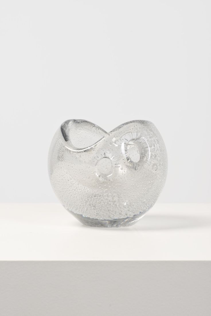 Timo Sarpaneva; Glass 'Devil's Pearl' Vase for Iittala, 1956.
