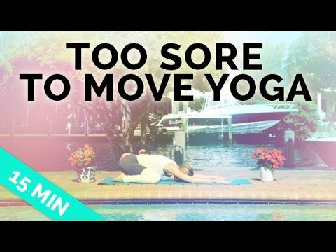 Easy Yoga Stretches for Sore Muscles (15-Min) - Yoga for When You're Sore #yoga #youtube #yogaclass