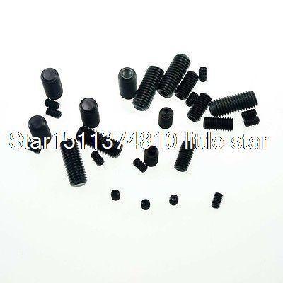 Lot100 M3x3mm Head Hex Socket Set Grub Screws Metric Threaded Cup Point #Affiliate