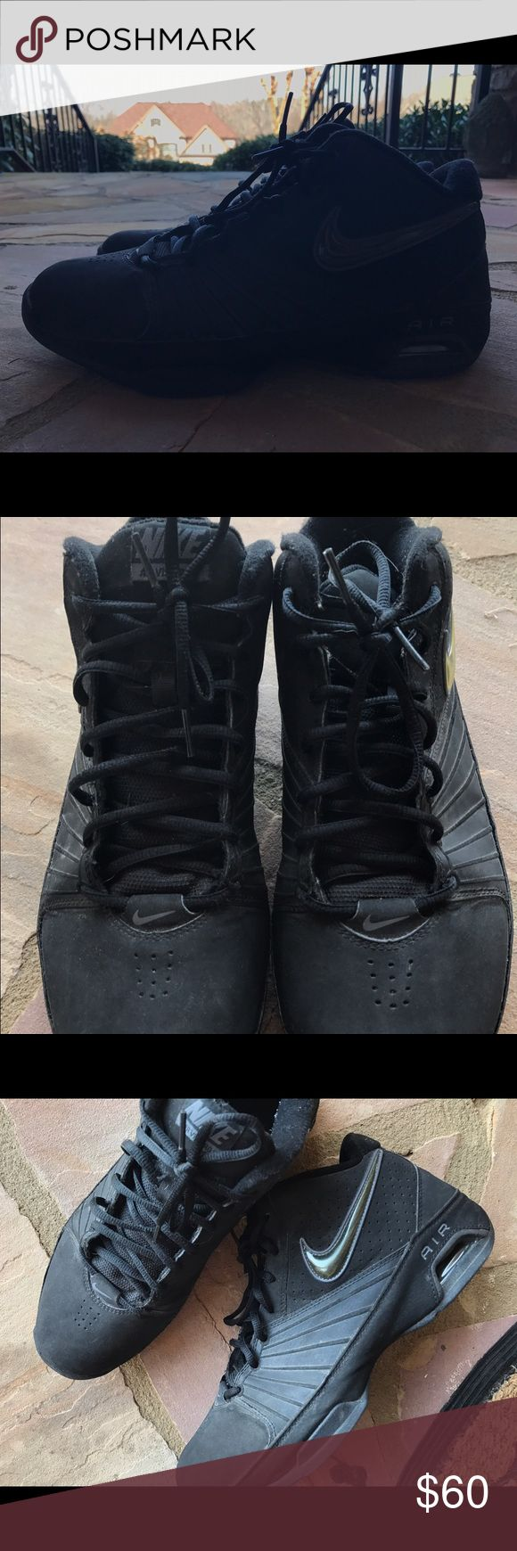 Black Nike Air Visi Pro 2 Black Nike air visi pro. Bought to play basketball but never played. Just a little dusty from being in my closet so long! Feel free to make an offer:) Nike Shoes Sneakers