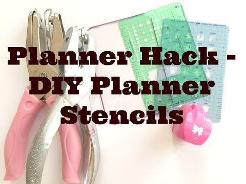 PLANNER HACK | DIY PLANNER STENCIL - YouTube